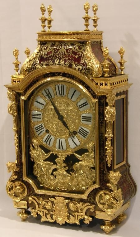 1695 Louis XiV style Boulle Marquetry clock