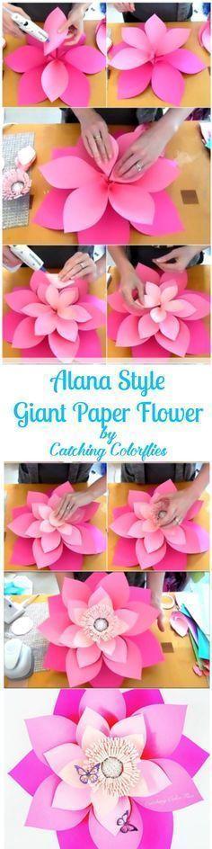 Flores de papel para decorar cumpleaños de Moana - http://xn--manualidadesparacumpleaos-voc.com/flores-de-papel-para-decorar-cumpleanos-de-moana/