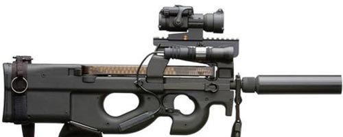 Пистолет-пулемет FN P90. Военное дело. Оружие.Loading that magazine is a pain! Get your Magazine speedloader today! http://www.amazon.com/shops/raeind