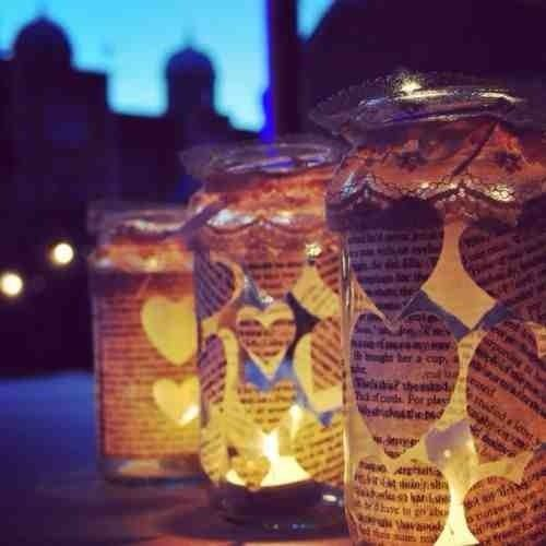 1 x Tealight Lantern - Wedding Centre Piece  - Shabby Chic Wedding - Favour
