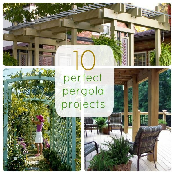 10 Perfect Pergola Projects.  Stuart keeps wanting to do one over the side patio.