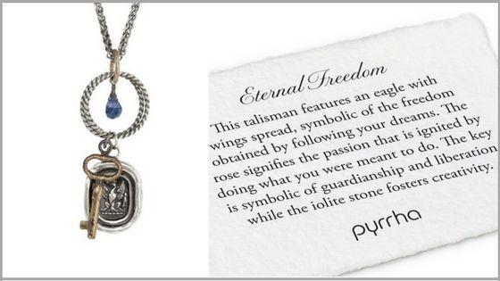 Eternal Freedom Charm Necklace by #Pyrrha