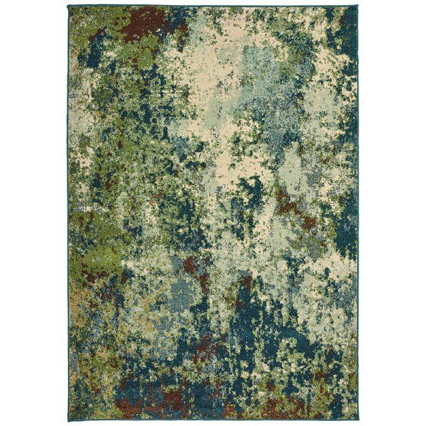Hedberg Abstract Green Area Rug Style Haven Green Area Rugs Abstract Rug