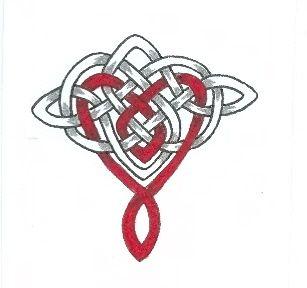 Infinite Love Celtic heart