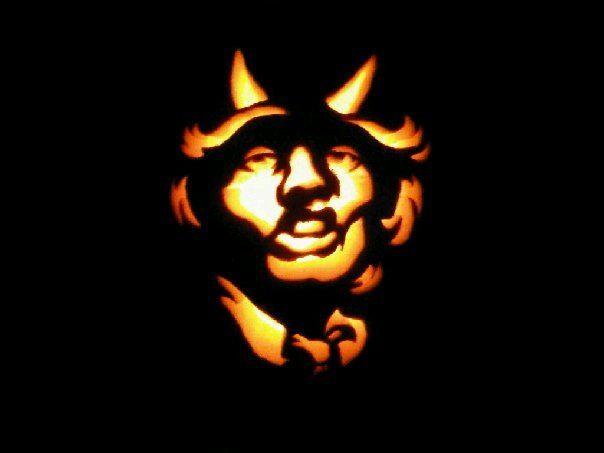 Angus young acdc pumpkin pumpkins pinterest
