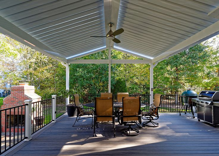Equinox Adjustable Roofs allow you to adjust the louvers to let the sun shine in or provide shade and rain cover. In Northern Virginia, you never know when you're going to get a rain squall -- but with the Equinox Adjustable Roof, rain checks are never required because you're always covered if you want to be!