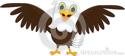 Cute little eagle cartoon