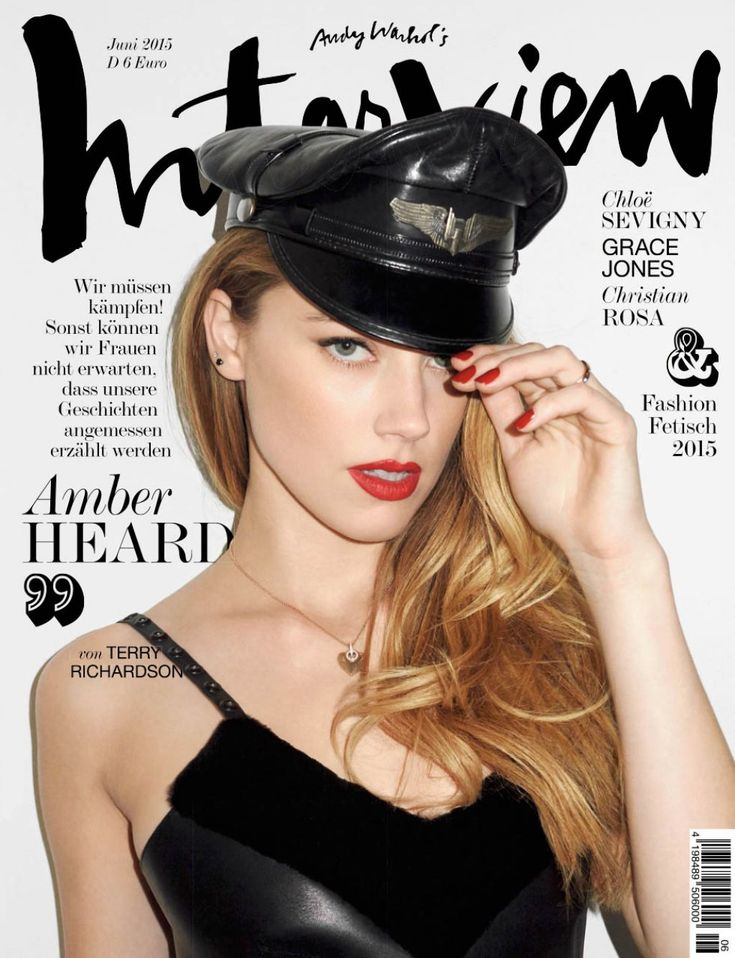 Amber Heard by Terry Richardson for Interview Germany June 2015