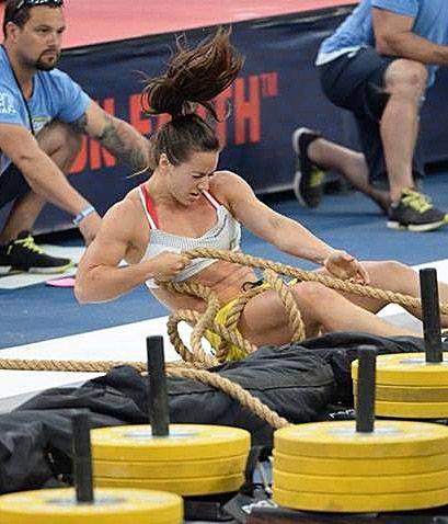 27 jullet 2014 - Une Québécoise championne du monde de Crossfit - Camille Leblanc-Bazinet, 25 ans, a remporté les Reebok Crossfit Games, qui se sont terminés dimanche en Californie. Elle est maintenant «la femme la plus en forme de la planète», selon les organisateurs de la compétition. (Arianne Lacoursière, La Presse)
