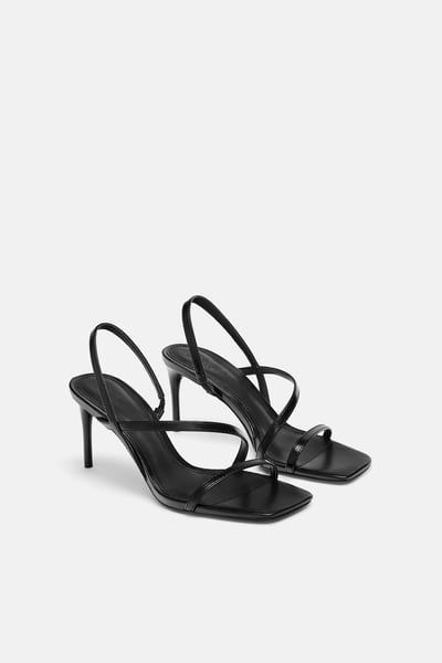 c97b55cfb0 Strappy sandals in 2019 | sandal design | Strappy sandals, Zara sandals, Black  strappy heels