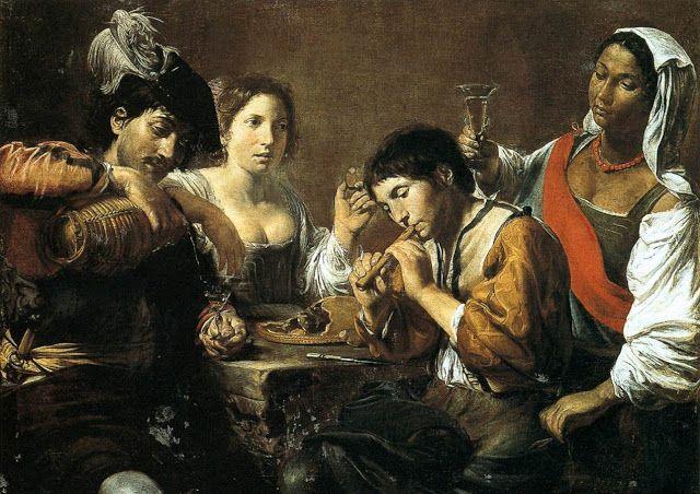 Μουσικός και πότες - 1625