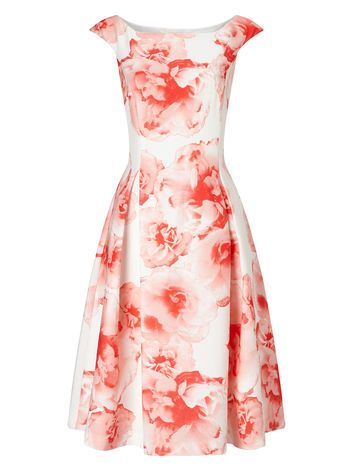 PRINTED TEXTURE PROM DRESS