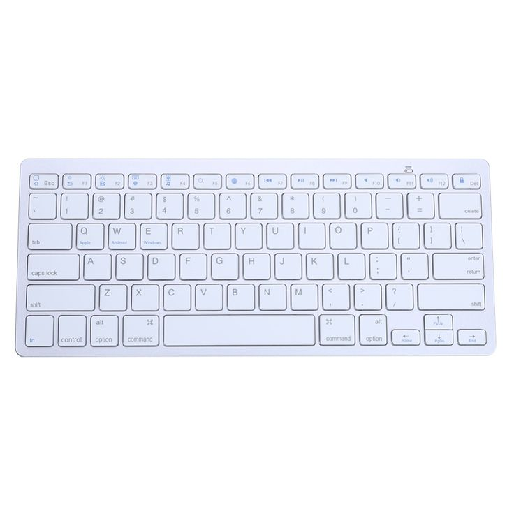 Slim Ergonomic Wireless Bluetooth 3.0 Keyboard for Android Phone Tablet PC Teclado Sem Fio Keycaps for iPhone fo iPad White #Affiliate