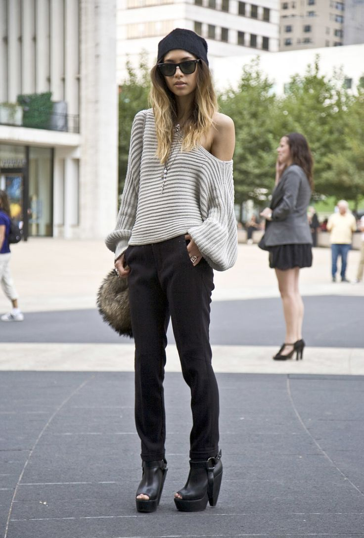 Knitwear Street Style 6 - pictures, photos, images