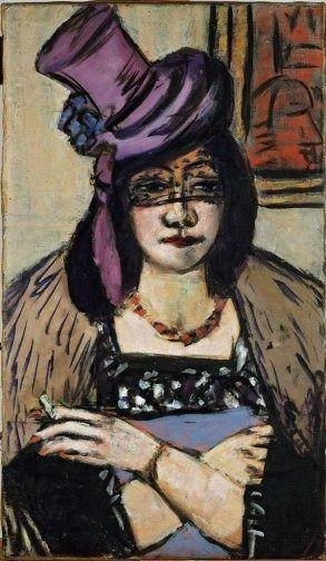 Max Beckmann (1884-1950) was een Duits expressionistisch kunstschilder. Beckmann situeert zich tussen het expressionisme van Die Brücke en de anekdotiek van de Neue Sachlichkeit.  In 1900 begon hij zijn schildersopleiding in Weimar.  Hij vertrok als medisch vrijwilliger tijdens de Eerste Wereldoorlog eerst naar het Oost-Pruisisch front (1914), later naar Vlaanderen en Straatsburg (1915) waar hij mentaal instortte.
