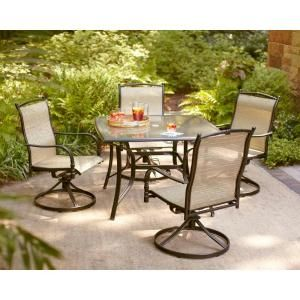 Hampton Bay Altamira Tropical 5 Piece Patio Dining Set D9976 5pct At The Home Depot Bringing