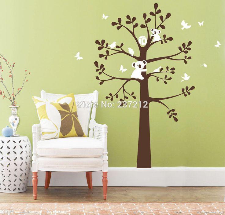 Koala Bird On Tree Wall Decor Vinyl Decal Kids Baby Removable Nursery Wall  Sticker Wall Art Part 83