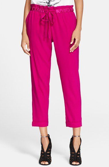 Pin for Later: Formt eure Taille, ohne Sport zu machen Haute Hippie Paper-Bag Waist Hosen Haute Hippie Stretch Silk Paperbag Trousers ($365)