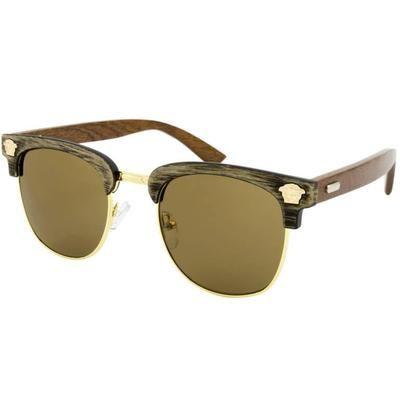 """Ξύλινα Γυαλιά Ηλίου Bamboo Clubmaster """"Costa""""-GREY-e-chap"""