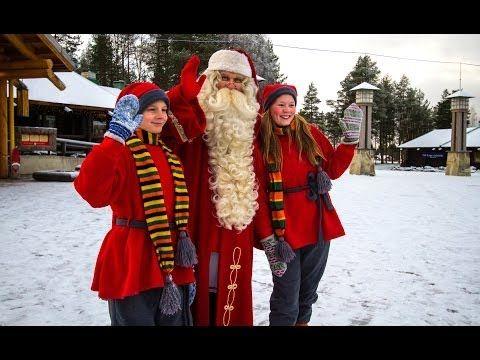 First snow 2013 in Santa Claus Village in Rovaniemi in Finland