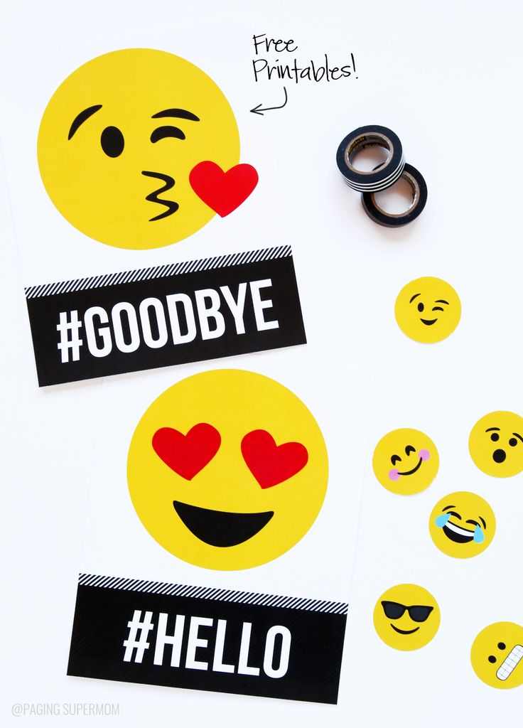 Printable Emoji Signs and Emoji Party ideas with freebies from @PagingSupermom