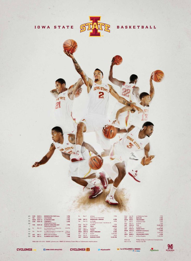 2012-2013 Men's Basketball Poster  Can't wait for this season to start! #cyfanweek