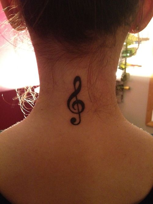 I wouldn't want to put it on my neck but this is a pretty tattoo idea:)