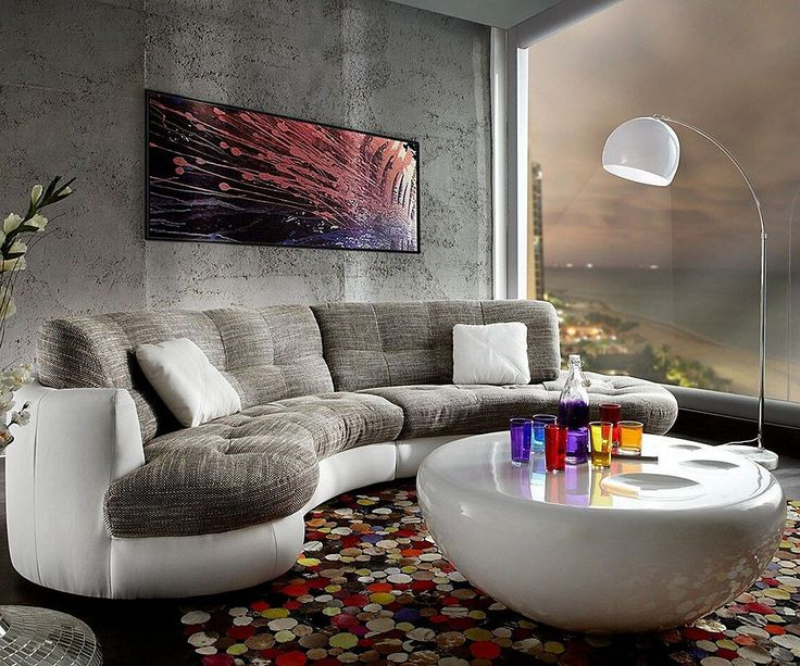 sofa halbrund geschwungen. Black Bedroom Furniture Sets. Home Design Ideas