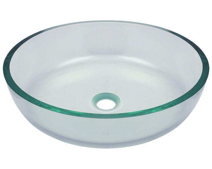 Photo Album Gallery P Clear Glass Vessel Bathroom Sink