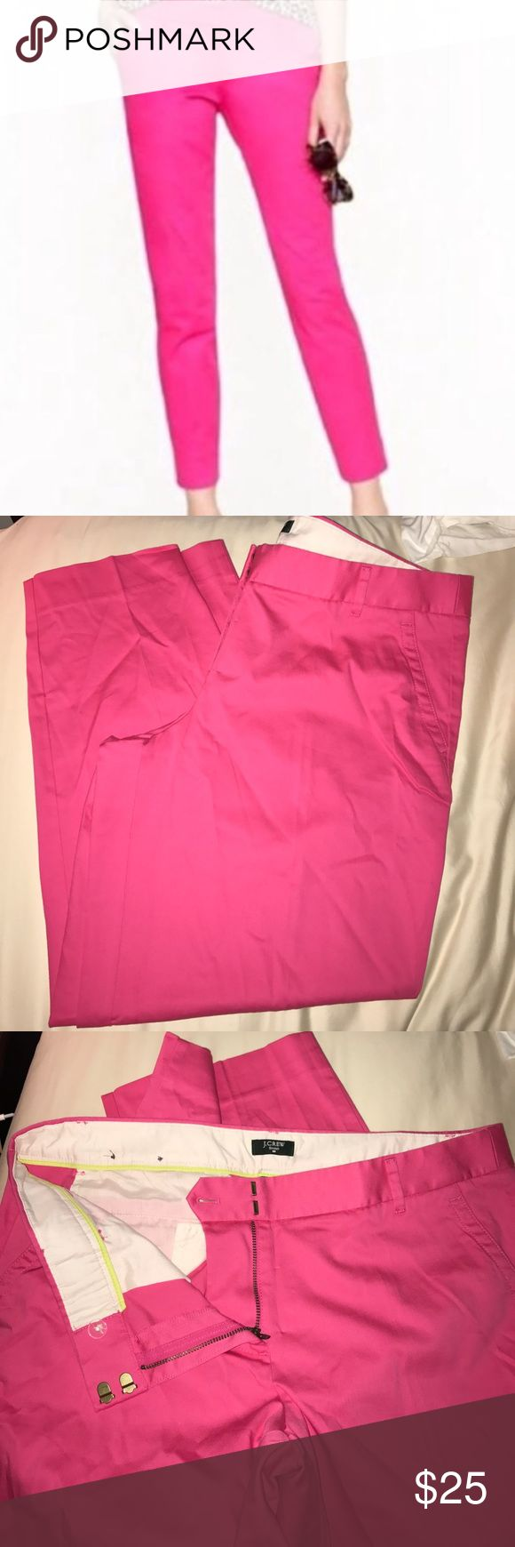 J Crew Pink Trouser Capri J Crew Pink Trouser Capri. Great condition perfect for summer!! J. Crew Pants Capris
