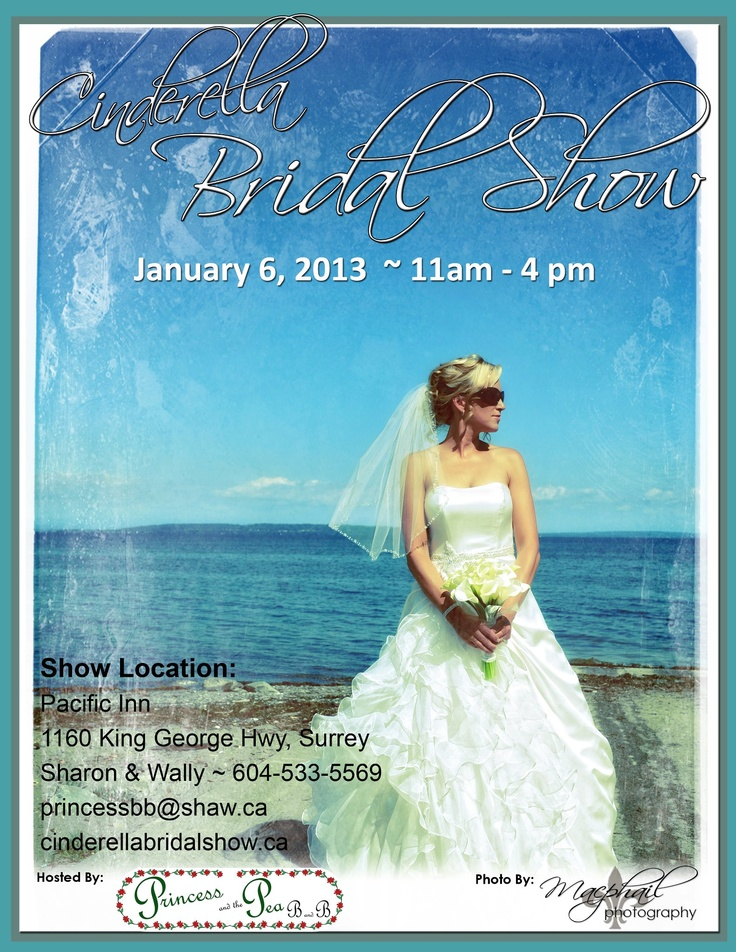 Cinderella Bridal Show January 6th, 2013 from 11am to 4pm https://www.facebook.com/cinderellabridalshow