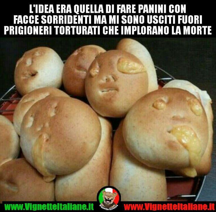 Me li mangerei lo stesso (www.VignetteItaliane.it) #vignetteitaliane.it #vignette #italiane #immagini #divertenti #lol #funnypics #cibo #pane