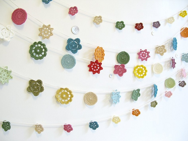 A- Someday we will figure out how to make these yummy crochet flowers. L,A (courtesy of Emma Lamb)