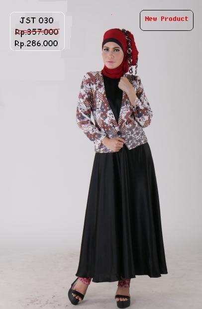 Gamis Kombinasi Jas Batik Toyusin exclusive