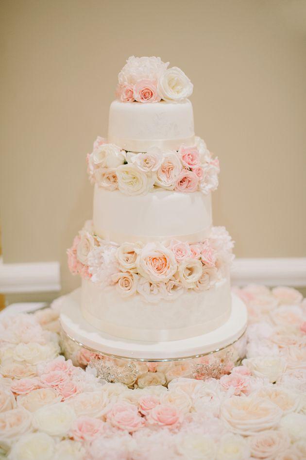Wedding cake flowers tiers
