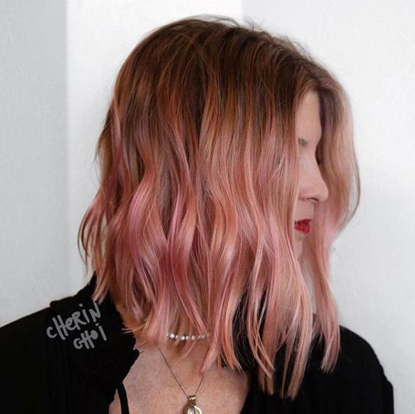 50 Popular Pink and Rose Gold Hair Shades for 2018