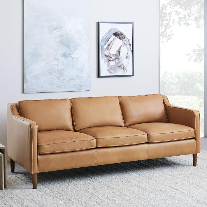 Hamilton Leather Sofa 81 Quot With Images Hamilton Sofa