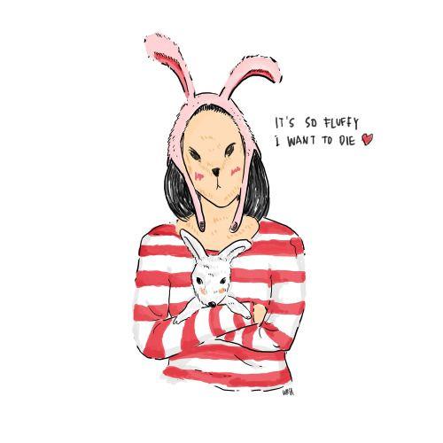 Mrs. Rabbit as Oky Silvia and Rabbit as Rabbit