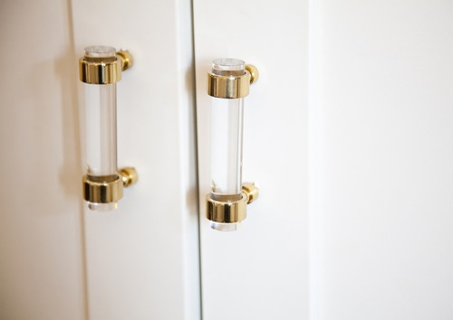 Need These For My Closet Doors.Ellie Somervilleu0027s Studio Apartment,  Details, Brass And Lucite Handles From The Paris Apartment, Lonny