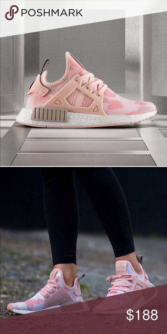 ADIDAS RUNNER PRIMEKNIT Adidas runner primeknit for women's size us 6 and 8. Color pink camo as pictures. New authentic with original box Adidas Shoes Sneakers