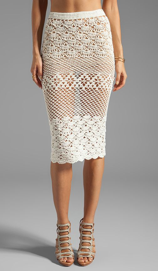 Spell & The Gypsy Collective Coconut Crochet Skirt in Off White   REVOLVE