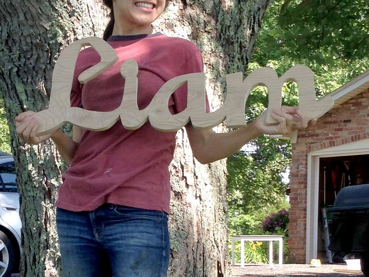 DIY Hand-cut Custom Name Wood Signs