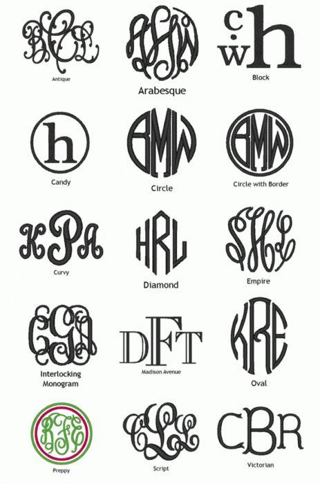 monogram styles: Back To Schools, Monograms Style, Monograms Ideas, Monograms Fonts, Crafty, Monograms Options, Diy Gifts, Monogram Fonts, Schools Backpacks