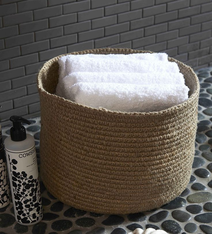 These soft natural Round Jute Baskets are available in three sizes which makes their uses endless. Whether you want to place them in your bedroom, bathroom or living room you can guarantee that they will look great.