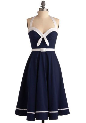 modcloth: Sailors Dresses, Style, Sunsets Dresses, Clothing, Sailing, Navy Dresses, Closet, I'M, Nautical