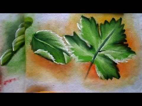 Treinando pintura de folhas -  Série Nível Iniciante igual ao meu - Graça Tristão - YouTube