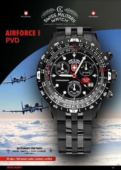AIRFORCE 1, PVD 2471 by CX Swiss Military Watch: https ...