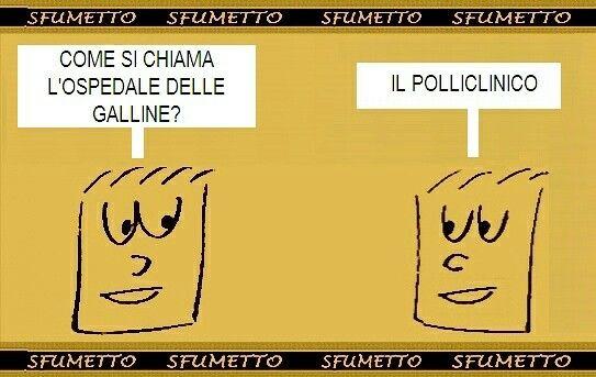 #barzelletta#vignetta#battuta#divertente#galline#ospedale#indovinelli#ridere