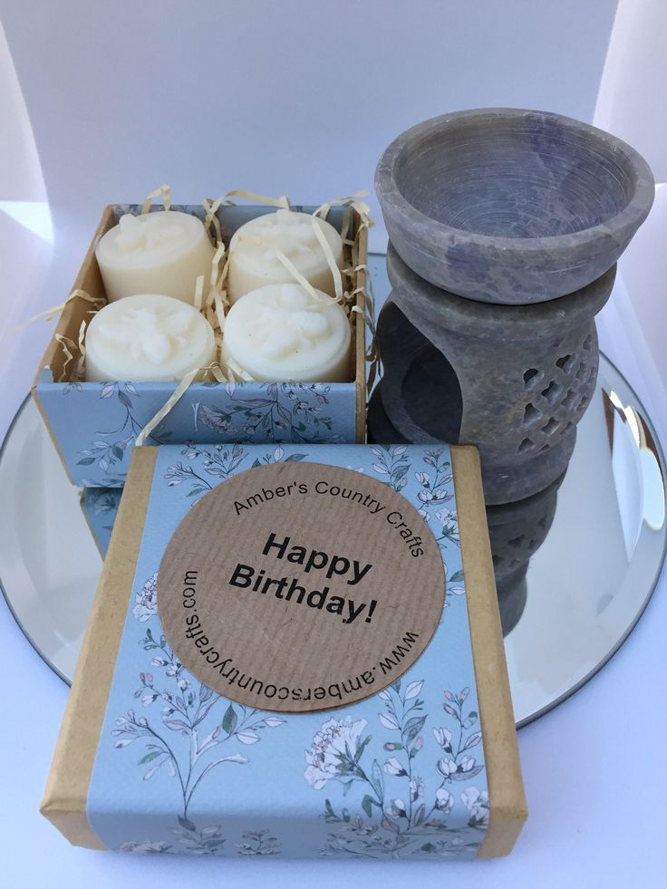 Excited to share the latest addition to my #etsy shop: Birthday Gift, Birthday Day Gift Set, Soy wax melts , Oil Burner, Happy Birthday , Gift for friend ,Gift fir work friend
