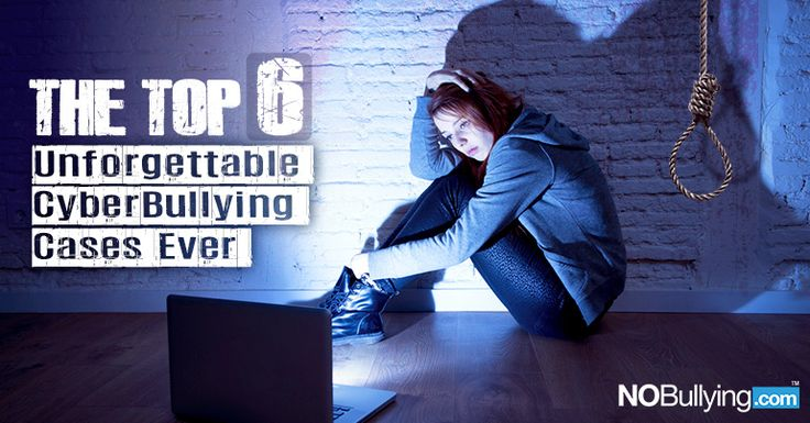 "The truth behind 6 disturbing cyberbullying cases that turned into suicide stories... Also browse:100 Must-Read Cyberbullying Articles and The 2014 Cyberbullying Statistics What is Cyberbullying? Wikipedia defines cyberbullying as, ""Cyberbullying is the use of information technology to repeatedly harm or harass other people in a deliberate manner. According to U.S. Legal Definitions, Cyber-bullying could be limited to posting rumors or gossips about a person in the internet bringing abo..."